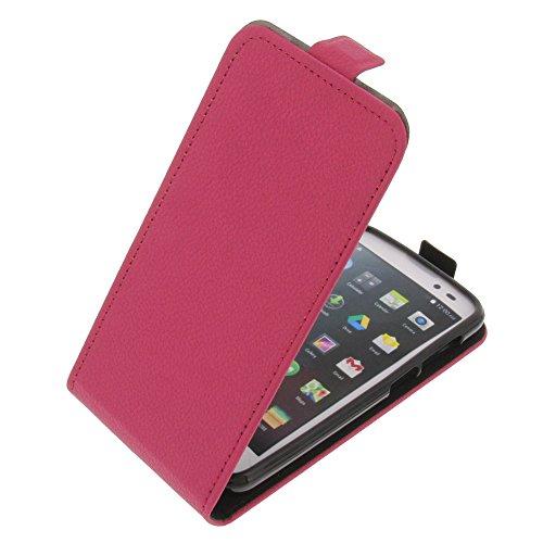 foto-kontor Tasche für Mobistel Cynus T6 Flipstyle Silikon Inlay Schutz Hülle pink