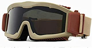 Military Alpha Ballistic Goggles Tactical Army Sunglasses Airsoft CS Paintball Glasses 3 Lens Kit