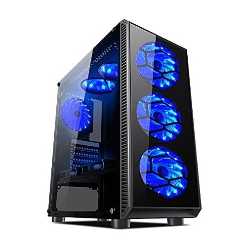 L-link | Torre Gaming Avatar Led Azul | USB 3.0 | Caja de PC con 6 Ventiladores Led Incluidos