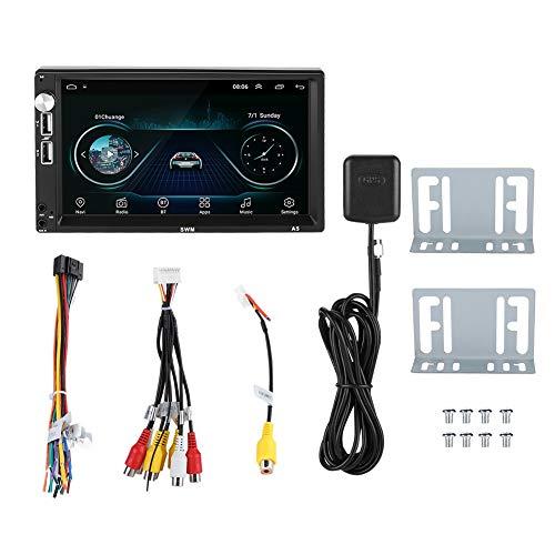 Qqmora Reproductor MP5 inalámbrico Reproductor Multimedia para automóvil Llamadas Manos Libres multifuncionales