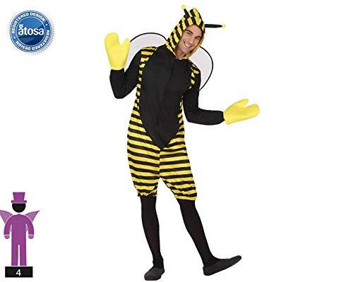 Atosa-63322 Atosa-63322-Disfraz Abeja-Adulto Hombre, Color amarillo, XXL (63322 , color/modelo surtido