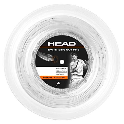 Head Synthetic GUT PPS Rollo Cordajes de Raquetas de Tenis,...