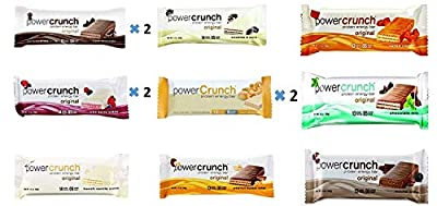 Power Crunch Protein Energy Bar Variety All 9 Flavors 12 Pack (Pack of 12)