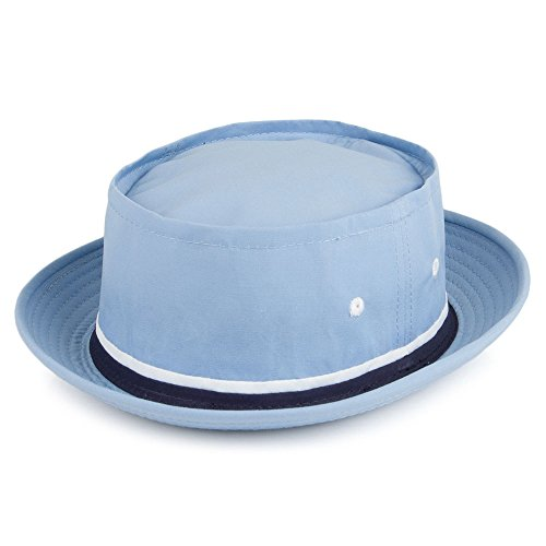 Village Hats Chapeau Bob Pliable Bleu Clair Dorfman-Pacific - Medium