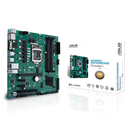 Price comparison product image ASUS PRO B460M-C / CSM LGA1200 (Intel® 10th Gen) uATX commercial motherboard (dual M.2,  Intel LAN,  2x DisplayPorts,  4K @ 60Hz