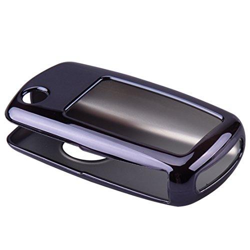 CITALL Télécommande Smart Key Fob Shell Housse Coque de Protection Support TPU Souple, Noir