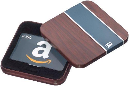Amazon.de Geschenkkarte in Geschenkbox - 150 EUR (Braun und Blau)