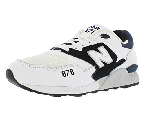 New Balance [ML878-ML878AAA] Classics Traditionnels Mens Sneakers New BALANCEWHITE BLACKM