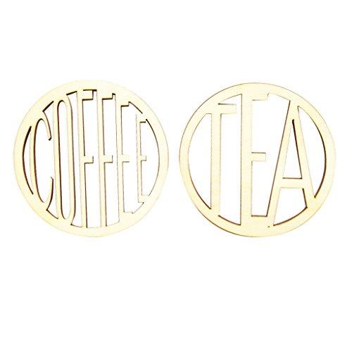 #N/a Café Y Té Posavasos de Madera Juego de Tapetes para Tazas Boda Regalo de Inauguración de La Casa - Coffee&Tea, tal como se describe