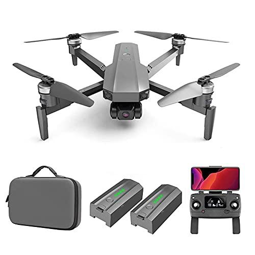 Lobhqph Drone GPS con Gimbal a 3 Assi + Fotocamera EIS 4K Droni di Trasmissione FPV 5G per Adulti 56 Minuti di Volo Quadricottero RC Professionale, Ritorno Automatico a Casa Follow Me 50 Volte Zoom