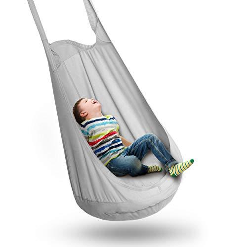 FIMALIAN® Hängesessel im praktischen Montage-Kit | mit externem Luftkissen - für Kinder & Jugendliche - die perfekte Wohlfühl-Hängeschaukel für das Kinderzimmer oder den Garten