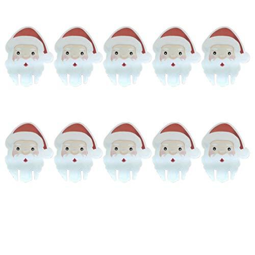 Amosfun 50 Piezas Tarjeta de Copa de Vino de Navidad Papá Noel Marcadores Etiquetas de Copo de Vino Decoración de...