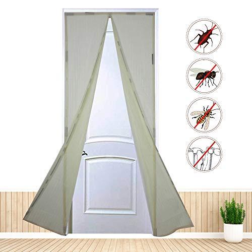 Ldawy Magnet Fliegengitter Tür Insektenschutz Fliegengittertür 90 x 210cm Magnetischer Fliegenvorhang Moskitonetz Automatisches Schließen Insektenschutz mit 9 Paaren starker magnetischer Schnallen
