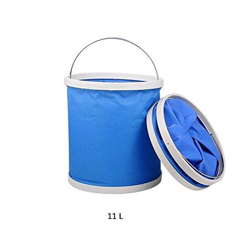 Boocy: cubo plegable de 9 L/11 L para pesca, senderismo, lavado de...