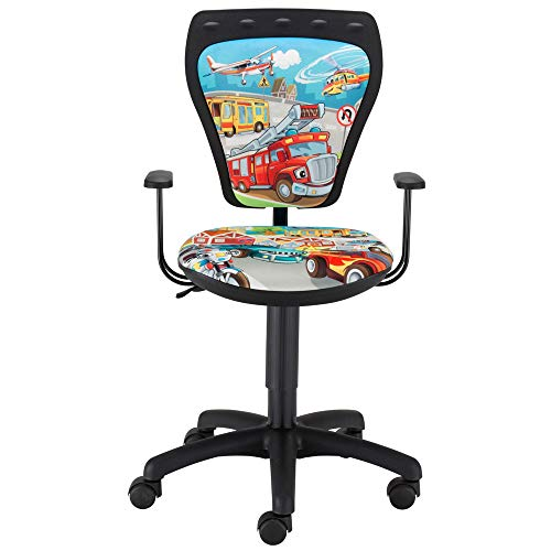 Schreibtisch Stuhl Prinzessin Kinderzimmer bunt Mädchen Drehstuhl mit Armlehnen
