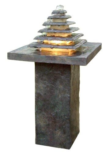 Süd Solar 01318 Brunnen Nizza mit Beleuchtung
