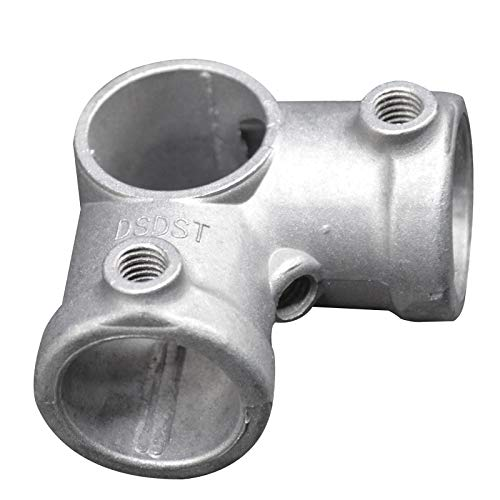 """Pipe Fitting 5Pcs/Pack Aluminum Alloy Pipe Clamp Fittings SIDe Outlet Tees 3/4 Inch Loft Style Retro Furniture Pipe Fitting - (Thread: 3/4"""")"""