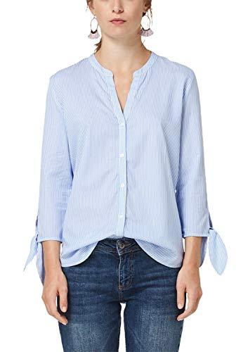 s.Oliver Damen 14.908.19.2898 Bluse, Blau (Blue Stripes 53g2), (Herstellergröße: 42)