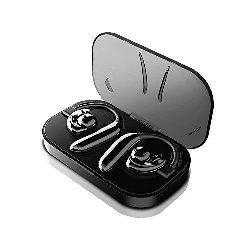 XUERUIGANG Auricular Bluetooth para teléfonos celulares Inalámbrico V5.0 Hands Free Headset Cancelación de Ruido Mic 20hrs Talking Compatible con teléfono móvil Tablet Portátil (Color: Negro)