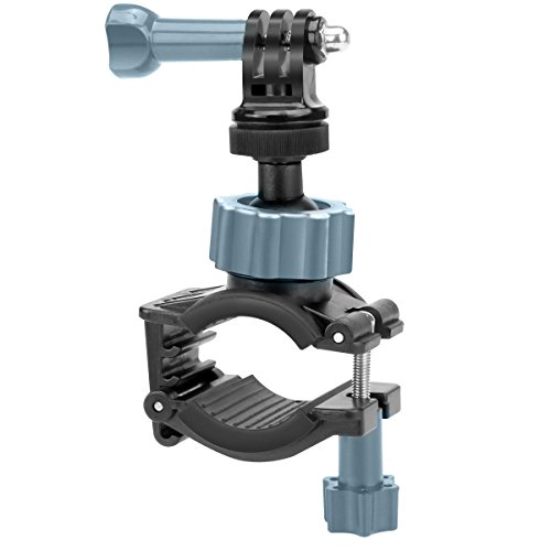 USA GEAR Action Camera Handlebar Mount Roll Bar Mount with Tripod Screw and Action Style Mounting - Fits Bars up to 1.5 Inches - Compatible with Hero 7/Hero 6, Ghost-S, YI 4K, AKASO EK7000 & More