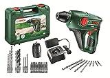 Bosch Uneo - Martillo perforador a batería + Bosch 2 609 256 989 - Juego variado