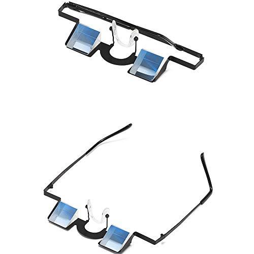 PUKEFNU Sonnenbrille Mann Faule Brille Smartphone Zum Spielen Hinlegen Schützen Sie Die Halswirbelsäule Herren Sonnenbrille Sitzgläser Korrigiert Geeignet Zum Lesen Im Liegen Und Für Hausaufgaben,Bk