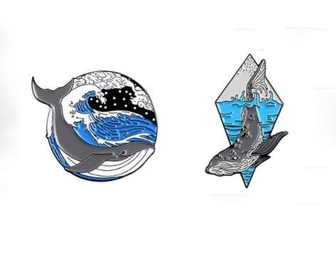 HMYDZ 2pcs / Set Broschen und Pins Wein Zeit PS AI Cursor Symbol Animal Set Künstler-Weihnachtslicht-Emaille Pins Abzeichen Cartoon Schmuck (Color : Style11)