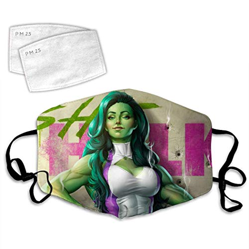 Sar-ah Kerri-gan from Star-craft Face Mask Reusable and 2 Filters,Mouth Muffle Anti-Dust for Unisex-She-hulk-MADE IN USA