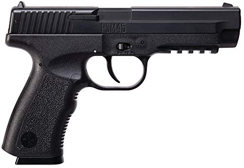 Crosman PSM45 Spring-Powered Single Shot Metal Slide BB Air Pistol