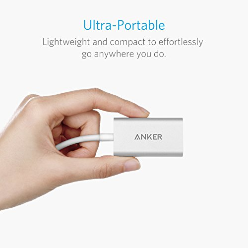 Anker USB C to HDMI Adapter, Aluminum Portable USB C Hub, Supports 4K 60Hz, for MacBook Pro 2018/2017/2016, iPad Pro 2018, Chromebook, XPS, Galaxy S10/S9/S8, and More (Silver)