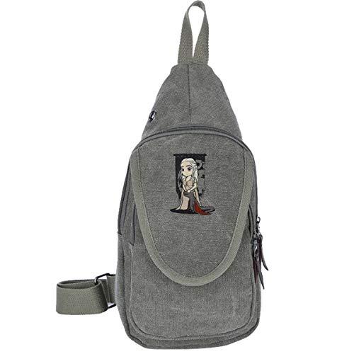 AHISHNF Mutter-Drachen-Chibi-Daenerys-Targaryen-Reise-Brusttasche für Männer und Frauen, Mehrzweck-Tagesrucksack, Wandern, Schultertasche