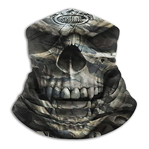 Spiral Gothic – Polaina máscara facial pasamontañas Headwear Bandana a prueba de polvo corte UV calentador de cuello ajustable para hombre mujer negro