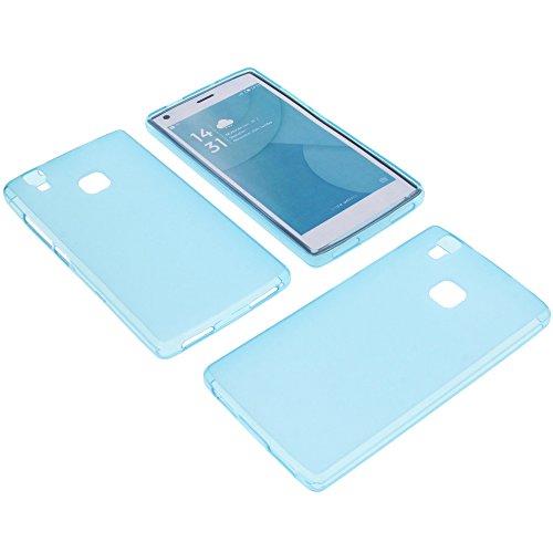 foto-kontor Tasche für Doogee X5 Max X5 Max Pro Gummi TPU Schutz Handytasche blau