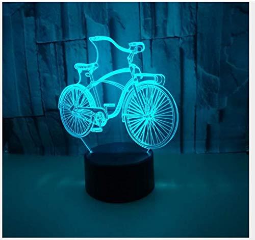 Tafellamp, 3D, creatief, voor fiets, cadeau, kleurrijk, voor vakantie, nacht