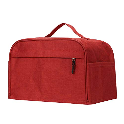 Toaster Cover with Pockets, Toaster Protector with Zipper & Open Pockets Kitchen Small Appliance Cover with Top Handle, Dust and Fingerprint Protection, Machine Washable
