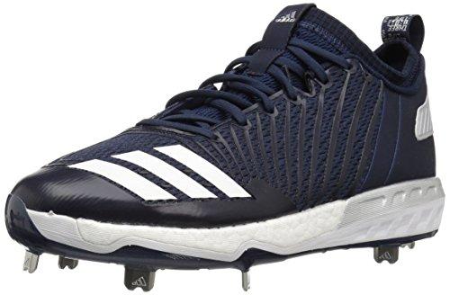 Adidas Boost Icon 3 - Scarpe da baseball da uomo, Blu (Collegiate Navy/Bianco/Argento metallizzato), 40.5 EU