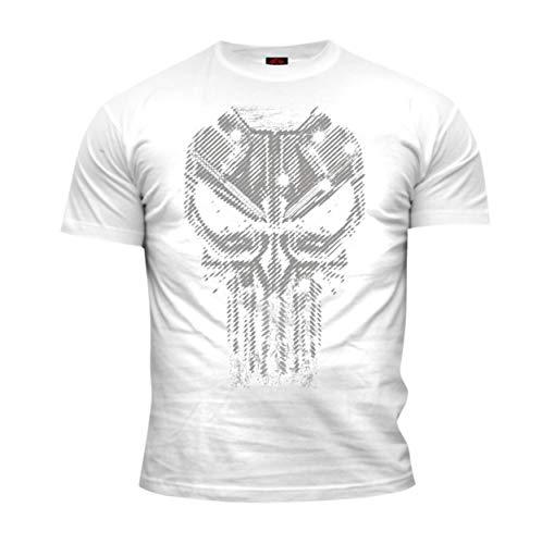 Dirty Ray Kampfsport Punisher No Mercy Herren Kurzarm T-Shirt DT43 (XXL)