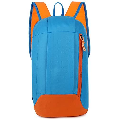 QIANJINGCQ La nueva mochila para deportes al aire libre para hombres y mujeres, viajes de ocio, mochila impermeable para montar en el hombro con luz