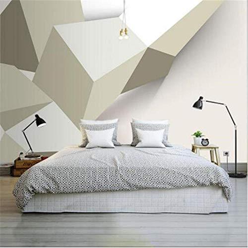 Hyllbb Modernes Design Wallpaper Für Wände 4D Geometric Custom Wandbild 3D Stereoscopic Grey Wandverkleidung Wohnzimmer Home Decor-140Cmx100Cm