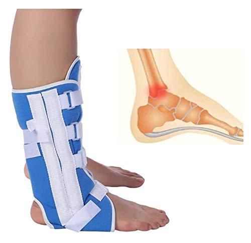 QAZW Einstellbare Kniegelenk Fallfuß Brace, Knöchelriemen-Orthese-Klammer-Stütz Verstauchung Strap-Tool Fix hilft zu balancieren Beinkraft zu verbessern 1117 (Size : S)