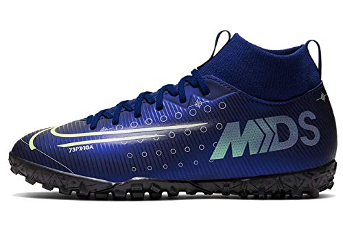 Nike Jr Superfly 7 Academy MDS Tf, Scarpe da Calcio Unisex-Bambini, Blue Void/Barely Volt/White/Black, 32 EU