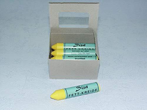 SISA Fett-Signierkreide gelb 12 Stück, Reifenkreide, Fettkreide 260200