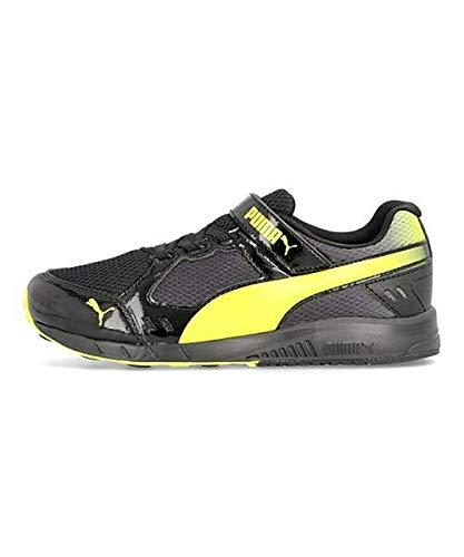 [プーマ] PUMA 男の子 キッズ 子供靴 運動靴 通学靴 ランニングシューズ スニーカー スピードモンスターV3 軽量 カジュアル スクール 学校 SPEED MONSTER V3 190266 プーマブラック/フローイエロー 18.0cm