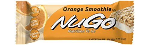 NuGo Protein Bar, Orange Smoothie, 1.76-Ounce Bars (Pack of 15)