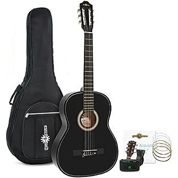 Set de Guitarra Clasica Negra de Gear4music: Amazon.es: Instrumentos musicales