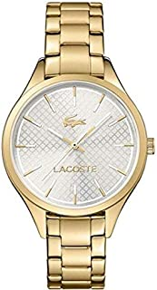 Lacoste 2000913 Stainless Steel Round Analog Water Resistant Watch for Women - Gold
