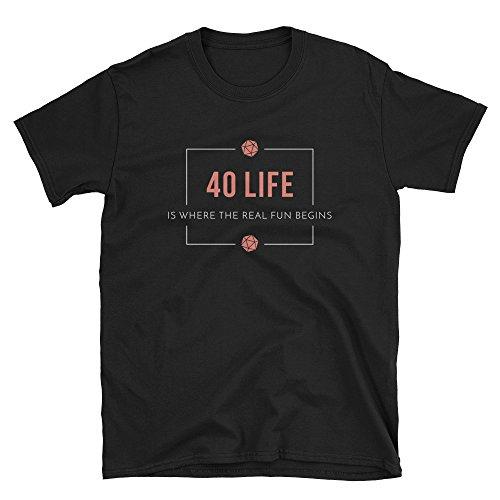 40 Life EDH Magic The Gathering Commander Player Short-Sleeve Unisex T-Shirt Black