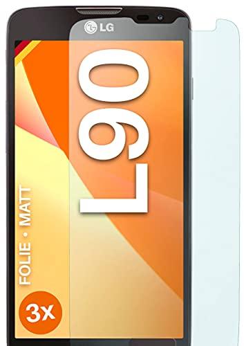 moex Schutzfolie matt kompatibel mit LG L90 - Folie gegen Reflexionen, Anti Reflex Bildschirmschutz, Matte Bildschirmfolie - 3X Stück