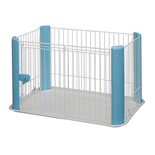 KTDT Small Pet Dog Playpen Foldable Exercise Pen Metal Yard Fence/Portable For Indoor Outdoor Travel Camping 4 Panel (Color : Blue)