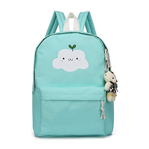 Haioo schoolrugzakken met wolkenpatroon voor schooltassen kinderen met etui, schoudertas